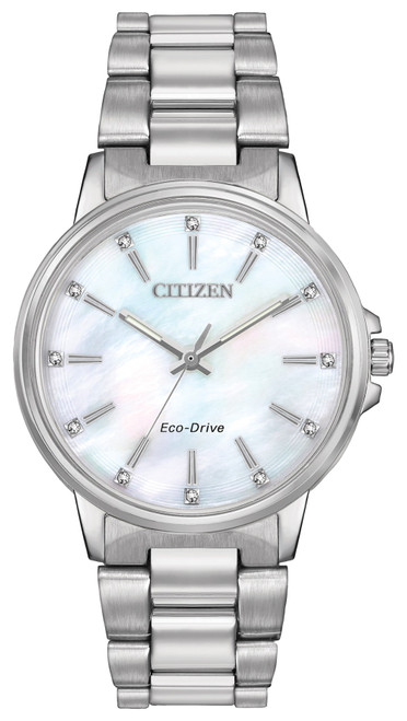 Citizen Eco Drive Women's Chandler Swarovski Crystal Watch FE7030-57D front