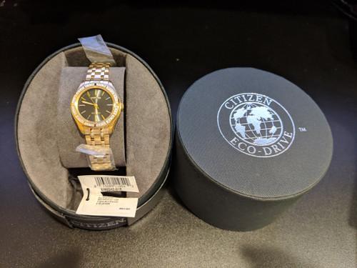 Citizen Eco-Drive Women's Carina Gold-Tone Diamond Watch EM0242-51E  pic1