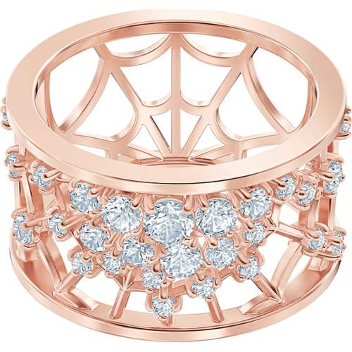 Swarovski Crystal Precisely Motif Ring, White, Rose-Gold 5496490 (Size M/ 7/ 55)
