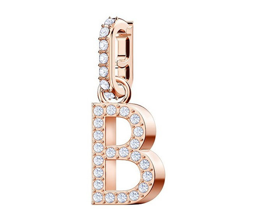 Swarovski Crystal Remix Collection Charm Letter B, Rose Gold Plating 5437624