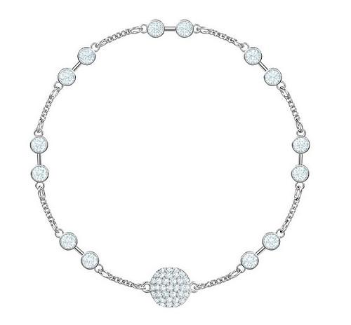 Swarovski Crystal Remix Collection Carrier Bracelet, Rhodium 5432774 Size M