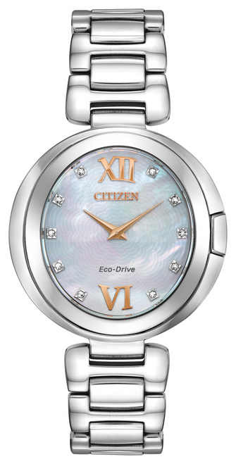 Citizen Eco Drive Women's Capella Mother-of-Pearl Diamond Watch EX1510-59D