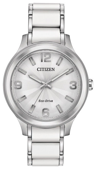 Citizen Eco Drive Women's Drive Stainless Steel Case White Dial Watch FE7070-52A