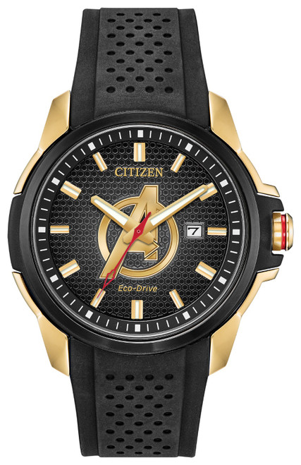 Citizen Eco Drive Men's Avengers Gold-Tone Chroma Finish Watch AW1155-03W