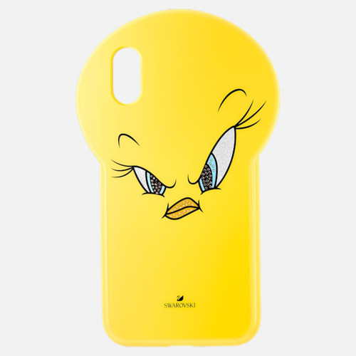 Swarovski Crystal Looney Tunes Tweety Case, iPhone X XS, Yellow 5499820