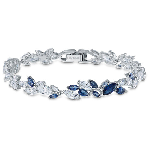 Swarovski Crystal 125th Anniversary Louison Bracelet, Blue, Rhodium Plated 5536548