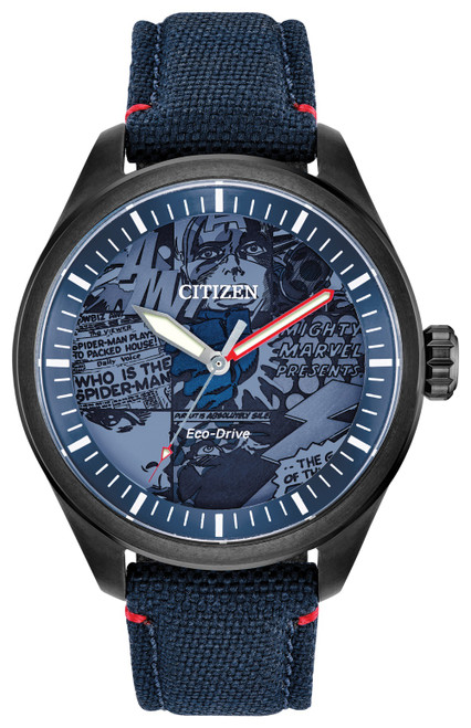 Citizen Eco Drive Men's Marvel Heroes Gray Ion-Plated Watch AW2037-04W