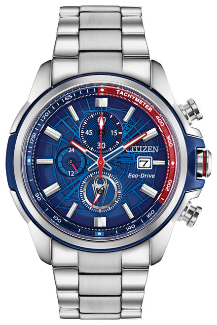 Citizen Eco Drive Men's Spider-Man Stainless Steel Bracelet Watch CA0429-53W