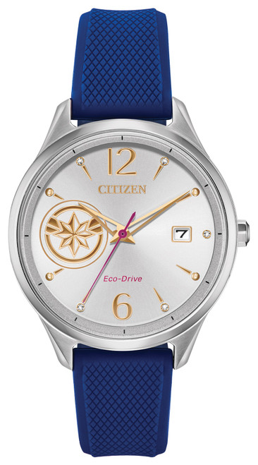 Citizen Eco Drive Unisex Captain Marvel Blue Silicone Strap Watch FE6101-05W