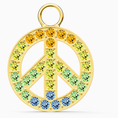 Swarovski Crystal Remix Collection Peace Charm, Gold-Tone Plated 5526998