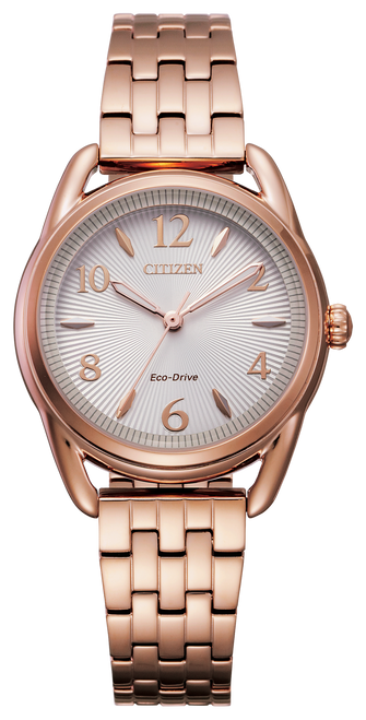 Citizen Eco Drive Women's Drive Pink Gold Tone Stainless steel Bracelet Watch FE1213-50A