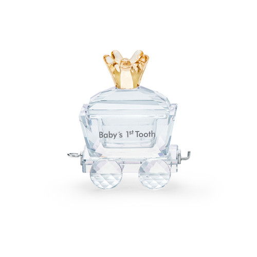 Swarovski Crystal Baby's 1ST Tooth Wagon Decoration Figurine 5492218