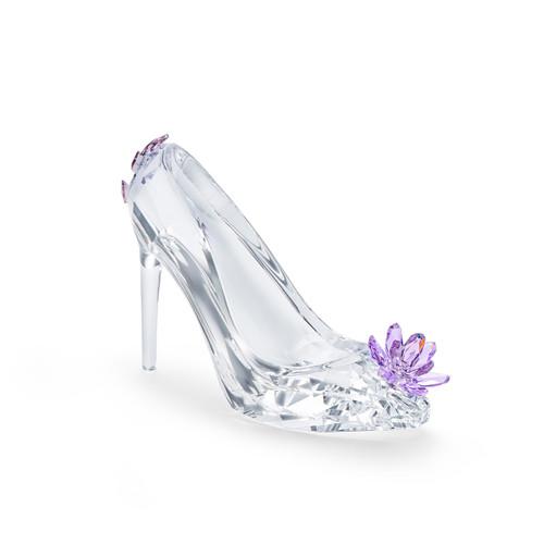 Swarovski Crystal Shoe With Violet Colored Flower Decoration Figurine 5493712