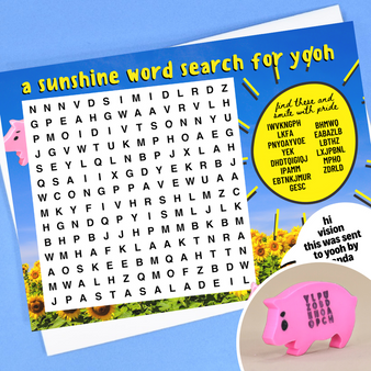 a word search with no actual words