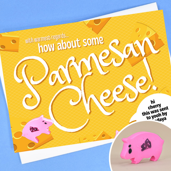how about some parmesan cheese!