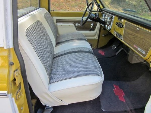 1969 72 Chevy Houndstooth Seat Cover Cheyenne Sierra