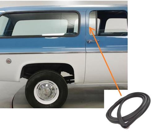 1973-91 Black Glass Lock Strip for Side Windows on Chevy GMC Truck Suburban