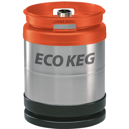 Stainless-steel keg SchaeferECO, with D fitting, 50L, stackable, AISI 304