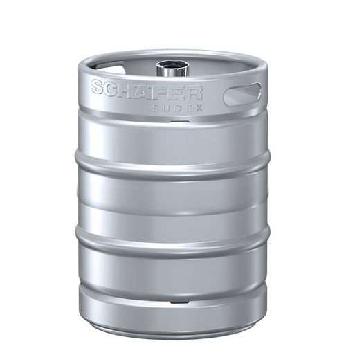 Schaefer Sudex Keg, 50L, Stackable, D-type Fitting, Stainless Steel 304