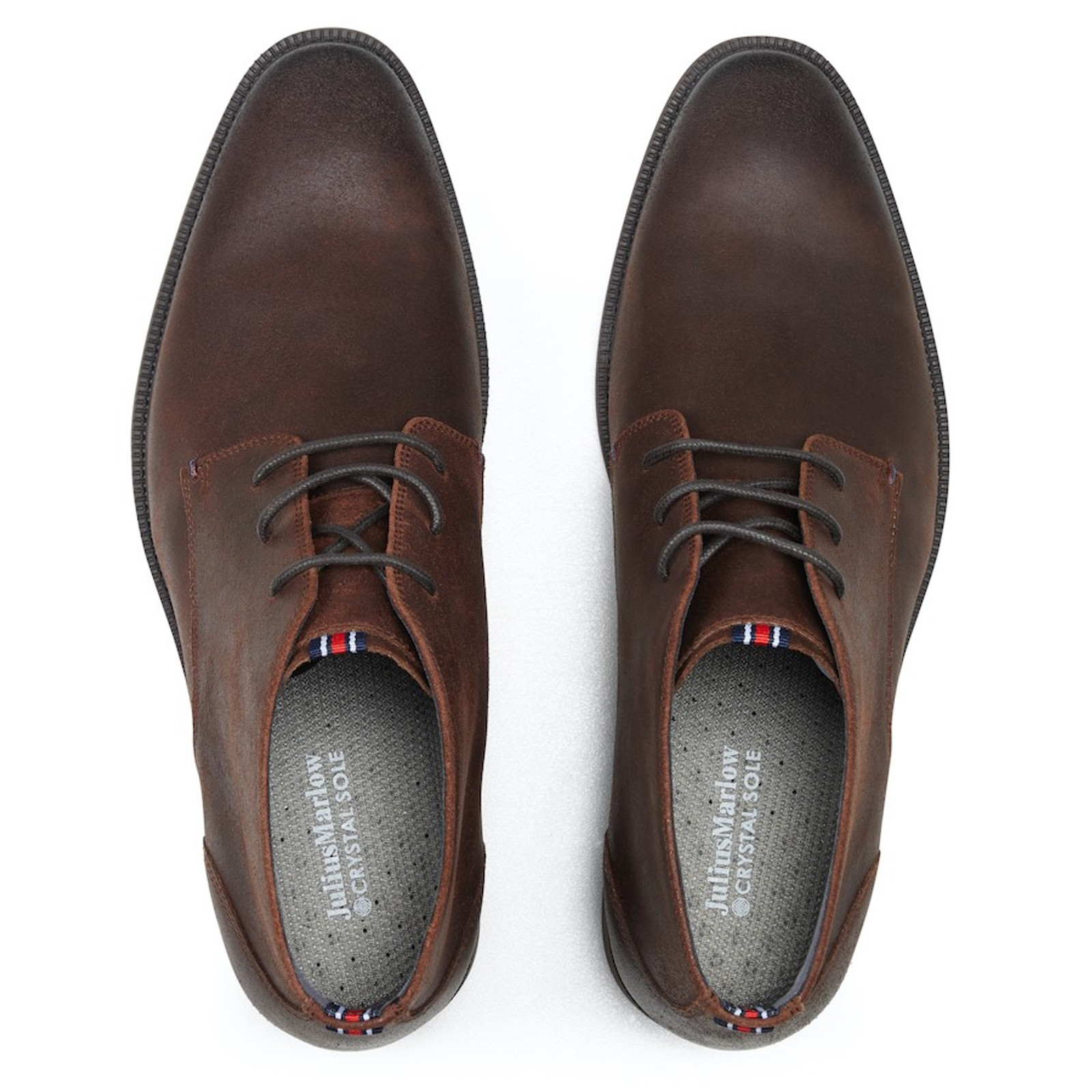 Julius Marlow  HARNESS Brown Waxed Suede