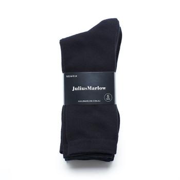 Julius Marlow Mens Black  Plain Sock 5 Pack
