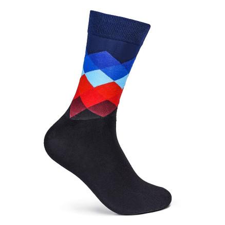 Julius Marlow Diamond Sock Black/Blue/Red