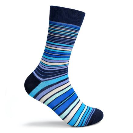 Julius Marlow Line Sock Blue/Black
