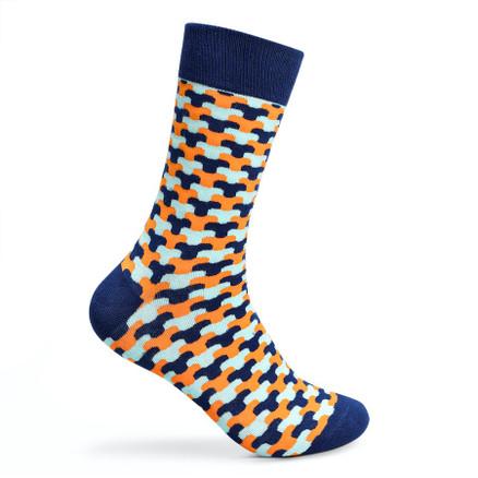 Julius Marlow Link Sock Navy/Orange