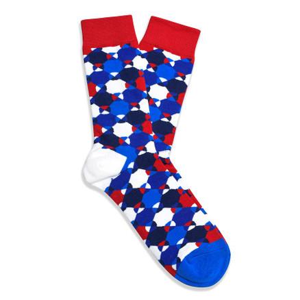 Julius Marlow Geo Sock Blue/Red