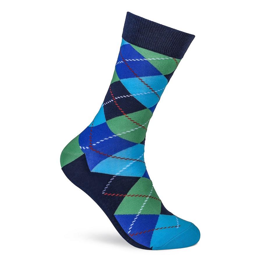 Julius Marlow Argyle Sock Blue/Green