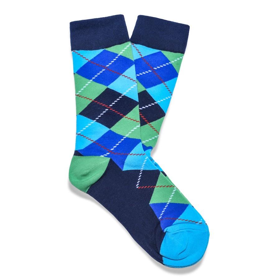 Julius Marlow Argyle Sock Blue/Green