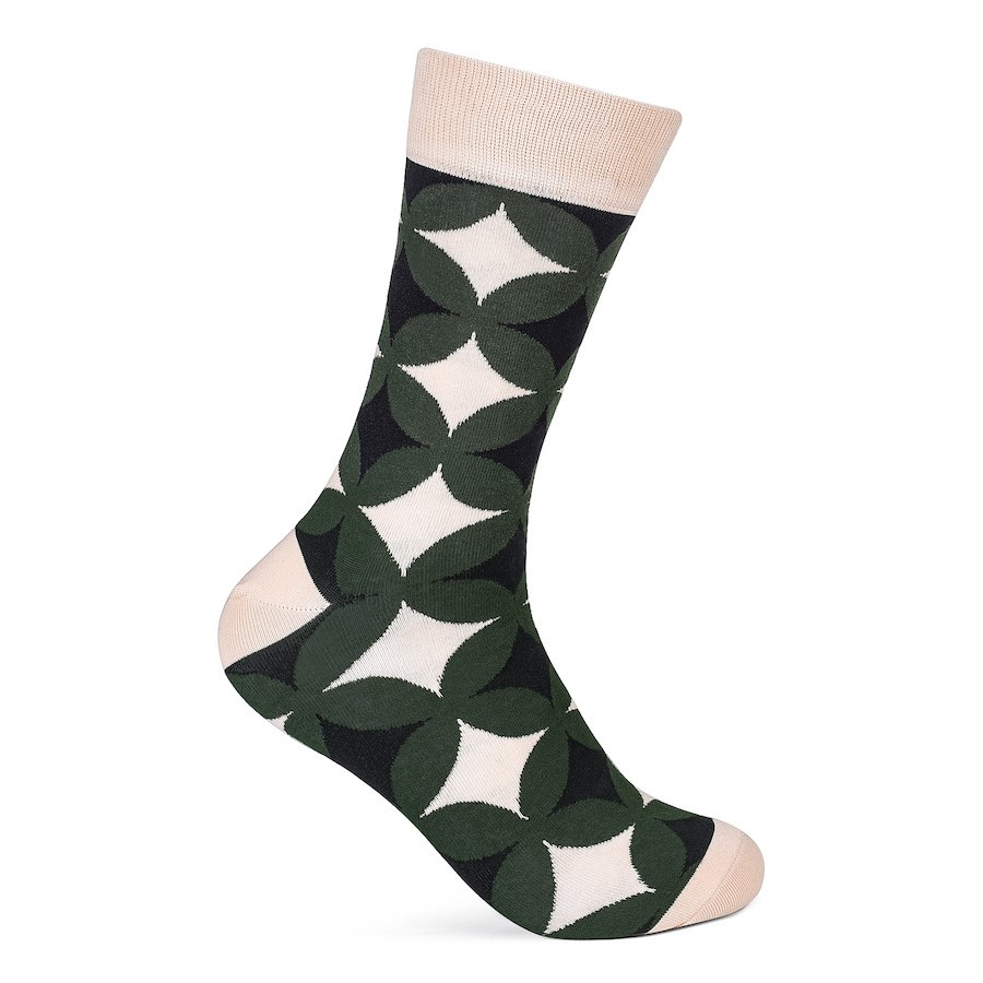 Julius Marlow Retro Sock Green/Sand