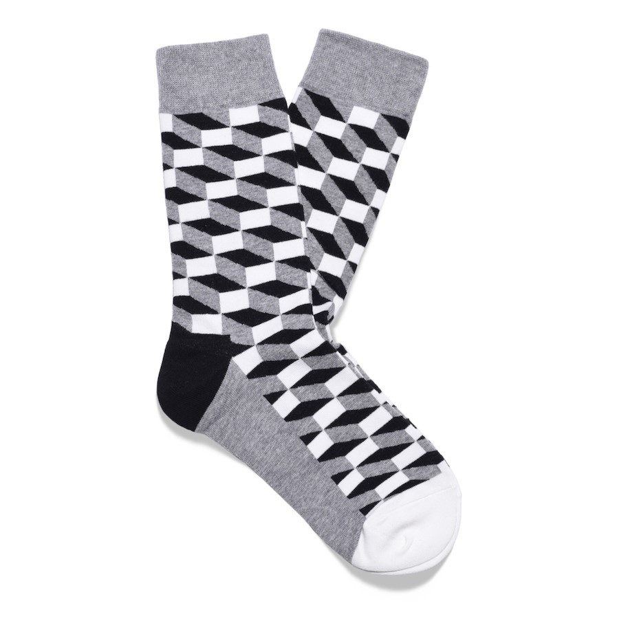 Julius Marlow Cube Sock Grey/Black