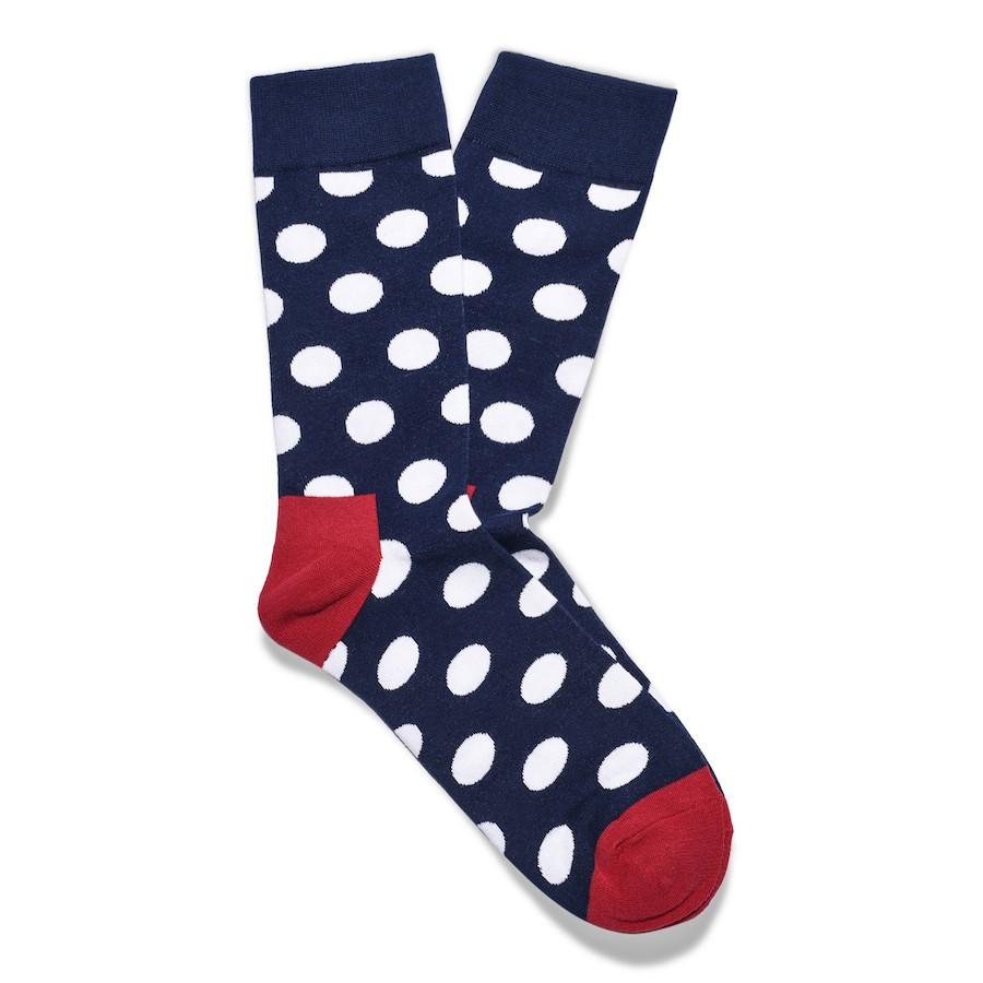 Julius Marlow Dot Sock Navy/White