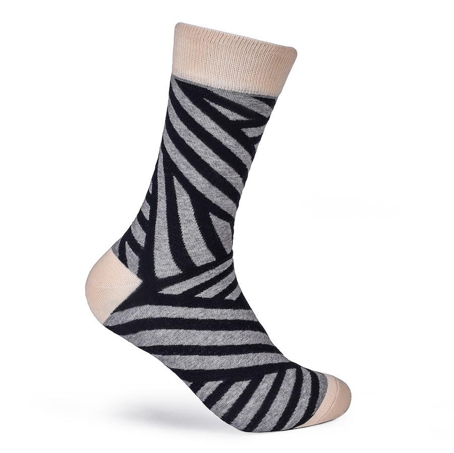 Julius Marlow Stroke Sock Grey/Dark Navy