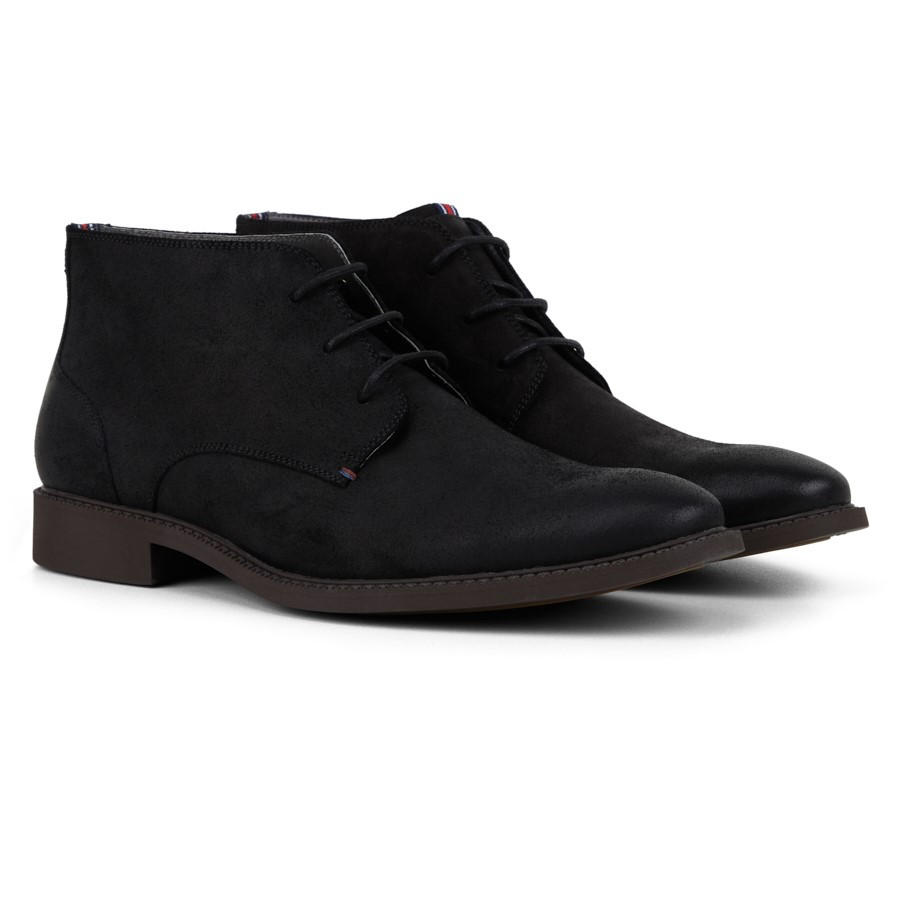 Julius Marlow Harness Black Waxed Suede