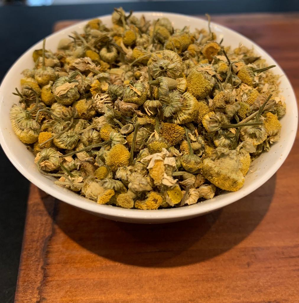 Organic chamomile flowers grown in Oregon