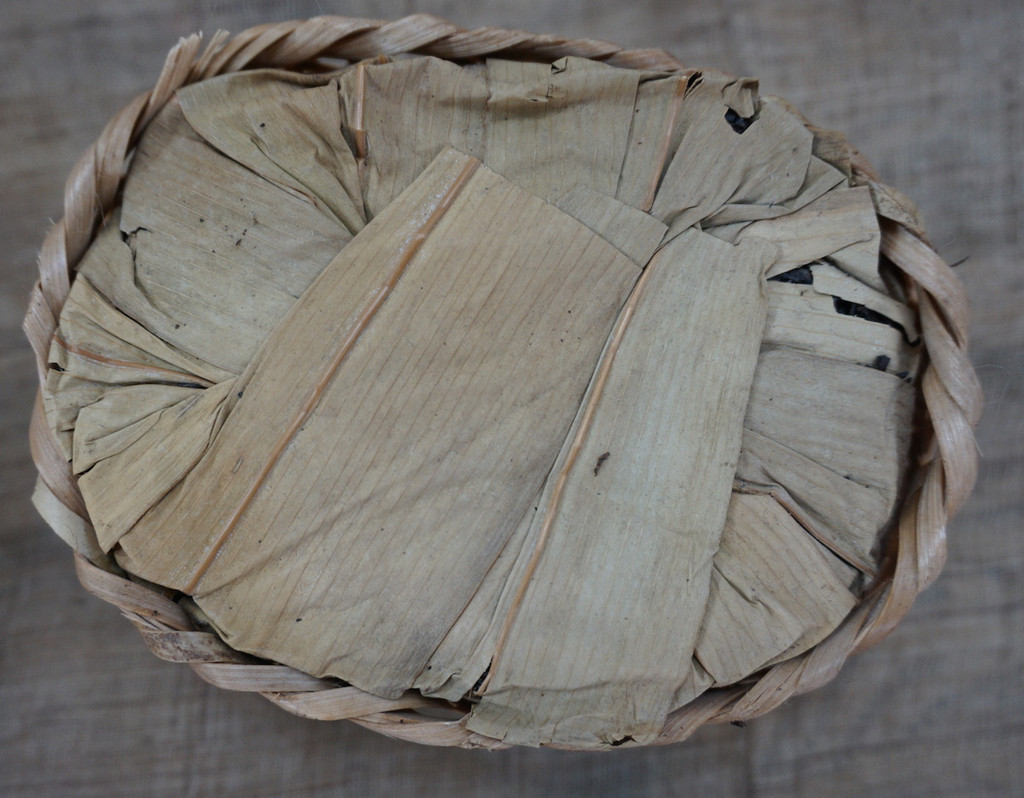 Liu An Dark Tea aka basket tea - 250g basket top view
