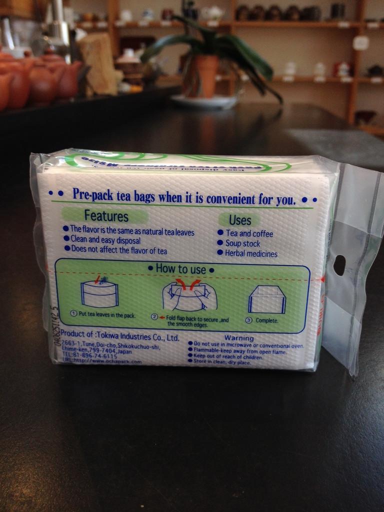 Ocha pack empty teabag instructions for loose leaf tea