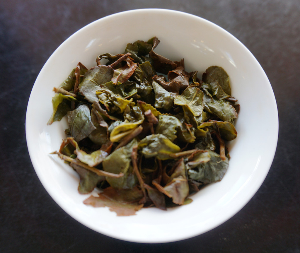 Star Light Oolong Tea Brewed Leaf
