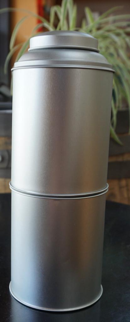 Tea Tin Round Stackable