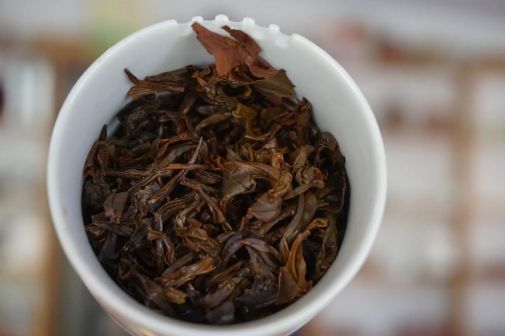 Gaba tea  Taiwan red tea Carnelian 18  tea leaf brewed