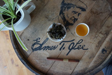 Bourbon barrel oolong tea on bourbon barrel