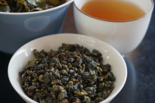 Star Light Oolong Tea Soup leaf brewed and dry