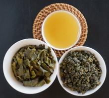 Grapefruit oolong Taiwan tea leaf, soup, brewed leaf