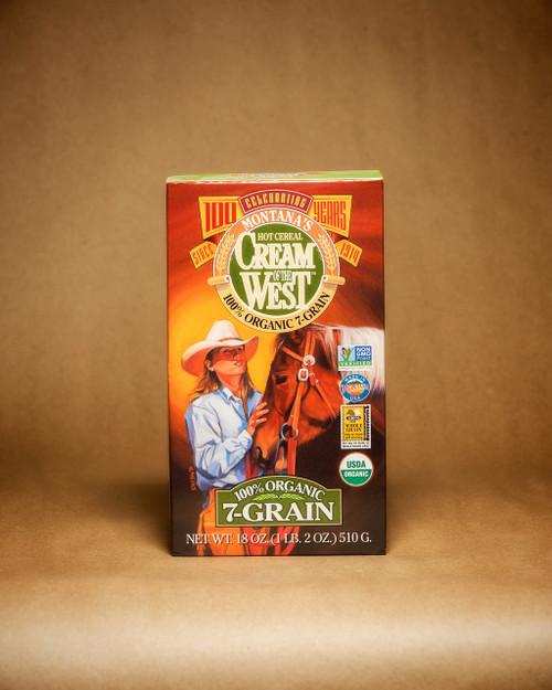Cream of the West 100% Organic 7 - Grain Hot Cereal Non GMO | Naturally Montana