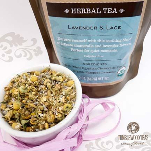 Organic Lavender & Lace Herbal Tea | Naturally Montana
