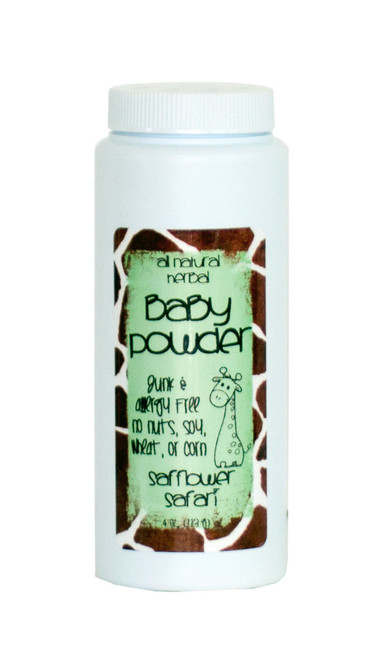 Safflower Safari All Natural Herbal Baby Powder  | Naturally Montana