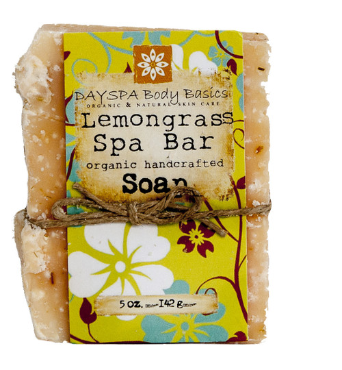 DaySpa All Natural Organic Handcrafted Lemongrass Spa Soap Bar | Naturally Montana