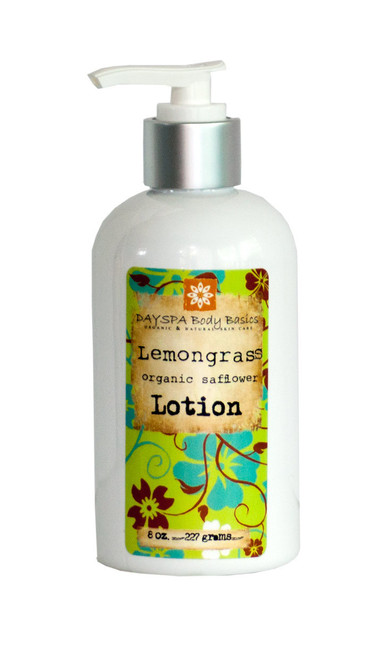 DaySpa All Natural Organic Lemongrass Safflower Lotion 8 oz | Naturally Montana